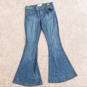 Free People wise leg flare bell bottom jeans